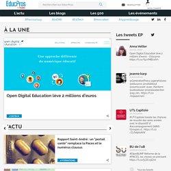 Educpros : le site à destination des professionnels de l'éducation