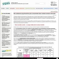 INPES - Des substances psychoactives plus consommées dans certains secteurs de travail