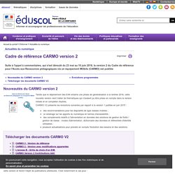 Actualités du numérique - Publication du cadre de référence CARMO version 2