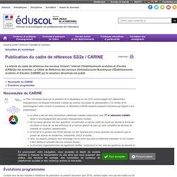 Actualités du numérique - Publication du cadre de référence S2i2e / CARINE