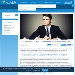 Les actualités de l'emploi sur Meteojob - Les 7 questions les plus courantes en entretien d'embauche