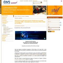 Stef - Séminaire du pôle elearning de l'Institut de la société numérique (ISN) : Actualités des recherches STIC et SHS sur les Mooc