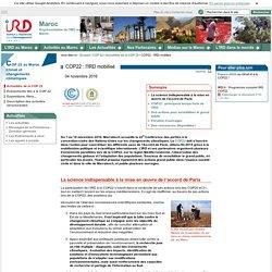 COP22 : l'IRD mobilisé / Actualités de la COP 22 / COP 22 / Maroc / IRD - Sites de représentation / IRD - Maroc