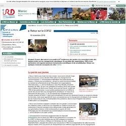 Retour sur la COP22 / Actualités de la COP 22 / COP 22 / Maroc / IRD - Sites de représentation / IRD - Maroc