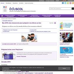 Ressources Eduscol_préparer le bac