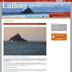 Actualités - Opération de rétablissement du caractère maritime du Mont-Saint-Michel