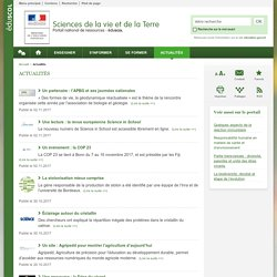 Actualités-Sciences de la vie et de la Terre-Éduscol