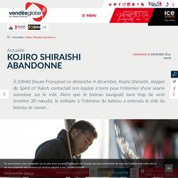 Actualités - Kojiro Shiraishi abandonne - Vendée Globe 2016-2017