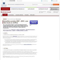 Actualités sociales 2007 – 2013 : une rétro toute en chiffres
