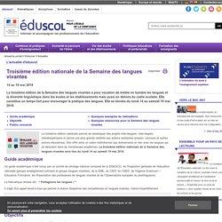 Actualités - Première édition nationale de la semaine des langues