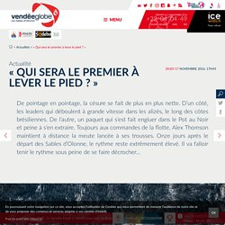 Actualités - - Vendée Globe 2016-2017