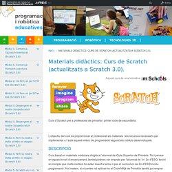 Materials didàctics: Curs de Scratch (actualitzats a Scratch 3.0).