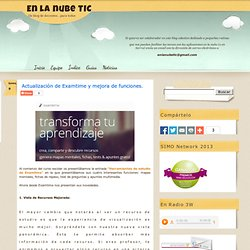 Actualización de Examtime y mejora de funciones.