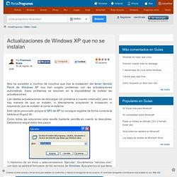 Actualizaciones de Windows XP que no se instalan - Guias en MilBits