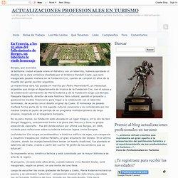 ACTUALIZACIONES PROFESIONALES EN TURISMO