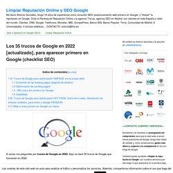 Los 35 trucos para aparecer el primero en Google en 2015 (checklist SEO)