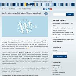 WordPress 4.6: ¡actualízate y benefíciate de sus mejoras!