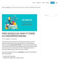 Free Google Ad: what it's actually means - Digital Professional