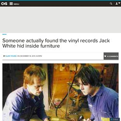Someone actually found the vinyl records Jack White hid inside furniture