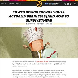10 web design trends you'll actually see in 2015 (and how to survive them)