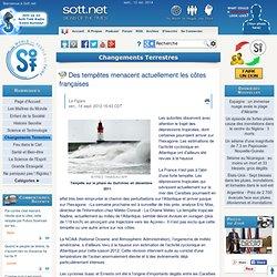 Des tempêtes menacent actuellement les côtes françaises