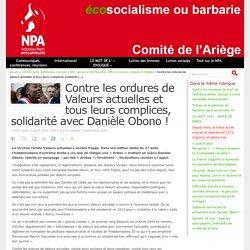 Contre les ordures de Valeurs actuelles et tous leurs complices, solidarité avec Danièle Obono ! Publié lundi 31 août 2020