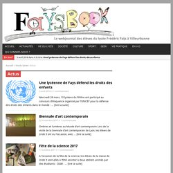 Web journal - Lycée