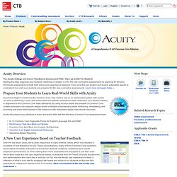 Acuity - CTB/McGraw-Hill