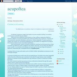 acupoftea: Calidad en eLearning