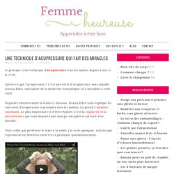 Exercices d'acupressure miraculeux