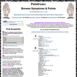 Browse Symptoms & Points » Acupressure Guide Online » PointFinder