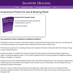 Acupressure Points For Gas Relief
