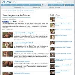 Basic Acupressure Techniques: Video Series