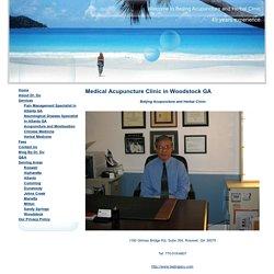 Acupuncture Woodstock GA - Acupuncturist Dr. Tianlong Du