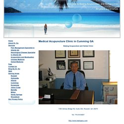 Acupuncture Cumming GA - Acupuncturist Dr. Tianlong Du