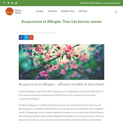 Acupuncture et Allergies