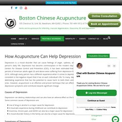 Acupuncture for Stress and Depression