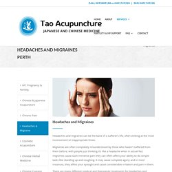 Acupuncture for headaches and migraines - Tao Acupuncture Perth