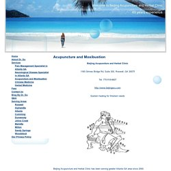 Acupuncture and Moxibustion Treatment in Atlanta, GA