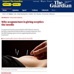 Why acupuncture is giving sceptics the needle