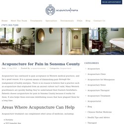 Acupuncture For Pain Sonoma County