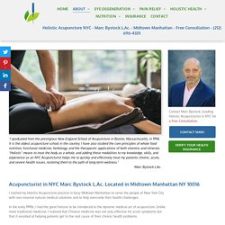 Get Free Consultations by NYC's Acupuncturist