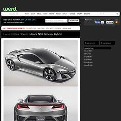 Acura NSX Concept Hybrid at werd