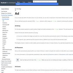 Publicité - Instant Articles