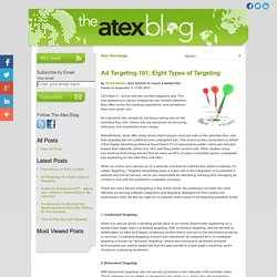 Ad Targeting 101: Eight Types of Targeting