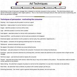 Ad Techniques