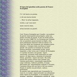 Il topos del giardino nella poesia di Franco Scataglini