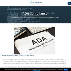 ADA Compliance - TULIeServices