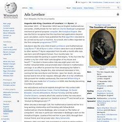 Ada Lovelace - Wikipedia