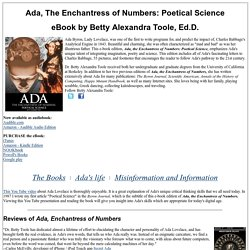 Ada: The Enchantress of Numbers